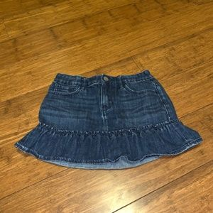 GapKids Mini Skirt Size 12 Girls Distrssed Jean
